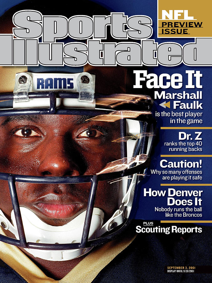 St. Louis Rams Marshall Faulk, 2001 Nfl Football Preview Sports Illustrated Cover Photograph by Sports Illustrated