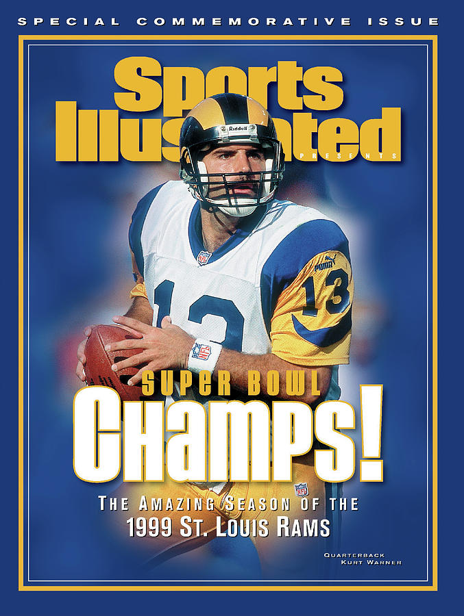St. Louis Rams Qb Kurt Warner, Super Bowl Xxxiv Champions Sports Illustrated Cover Photograph by Sports Illustrated