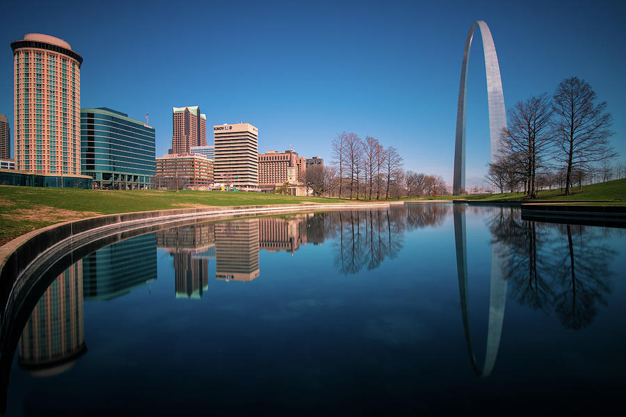 St. Louis Reflections in Gateway Park by Jay Smith