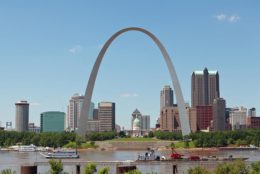 St. Louis Skyline With The Gateway Arch Photograph by Kubrak78