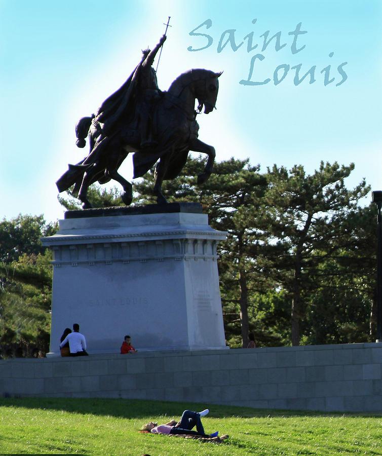 Statue Photograph - St. Louis Statue by John Lautermilch