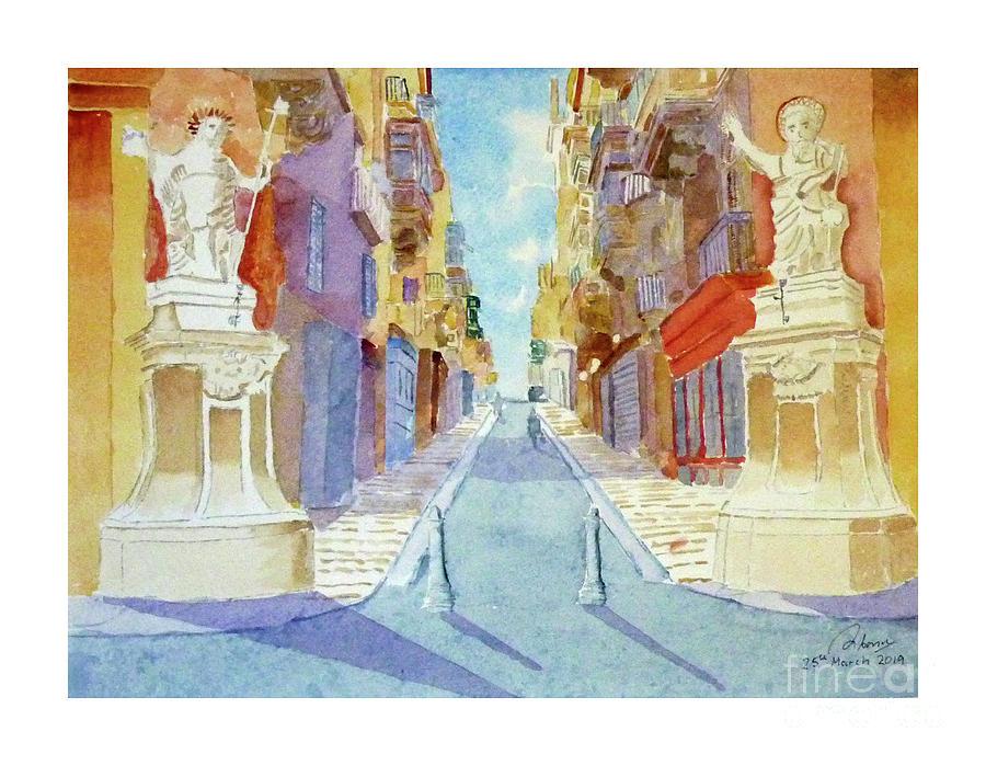 St Lucy Street Valletta by Godwin Cassar