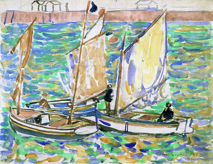 Usa Painting - St. Malo - Digital Remastered Edition by Maurice Brazil Prendergast