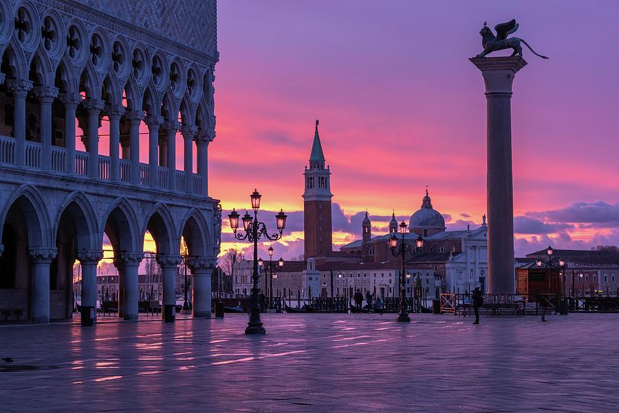 St Marks Basin,  Venice by Susan Leonard