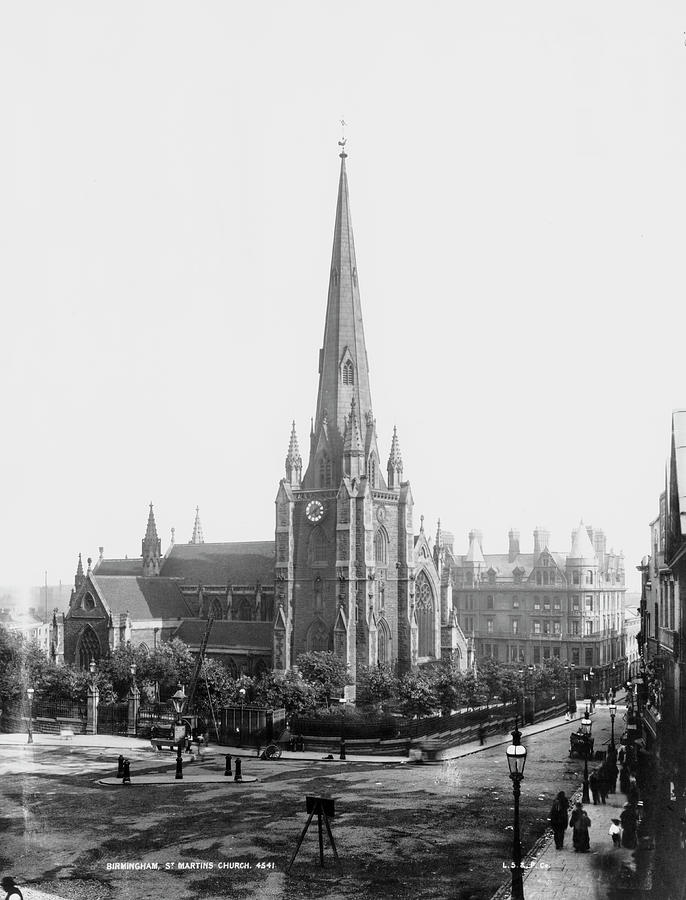 St Martin In The Bull Ring Photograph by London Stereoscopic Company