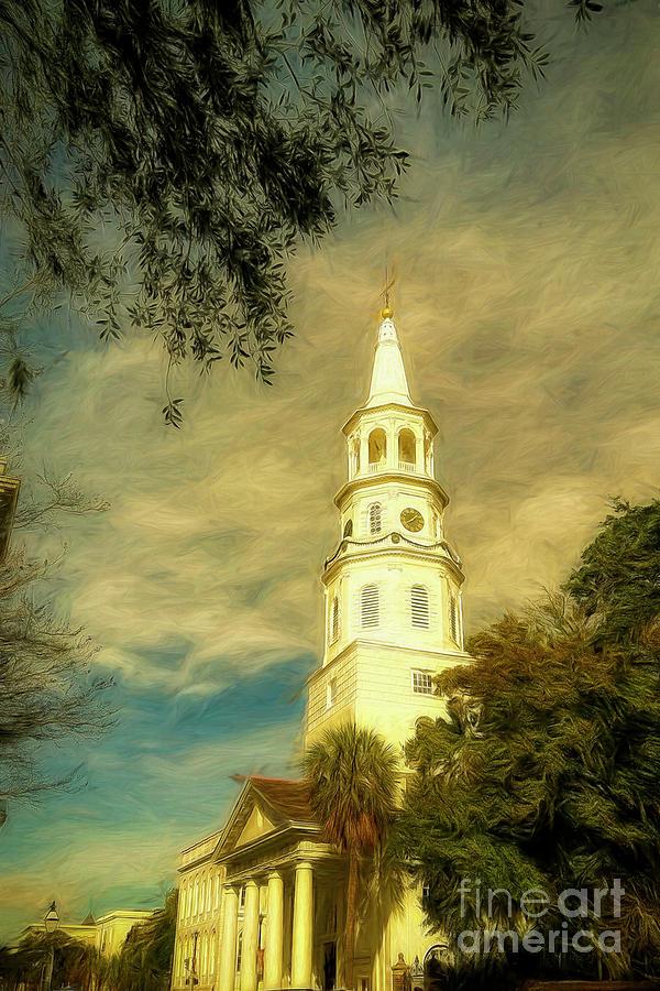 St. Michaels Church In Charleston by Kathy Baccari