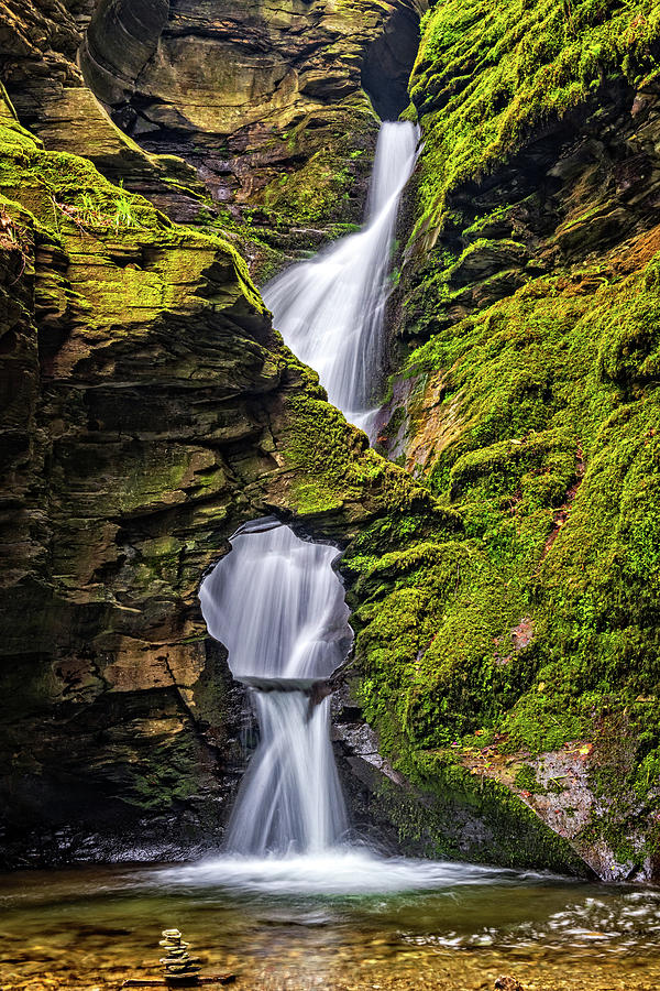 Britain Photograph - St Nectans Kieve Waterfall, Cornwall by David Ross