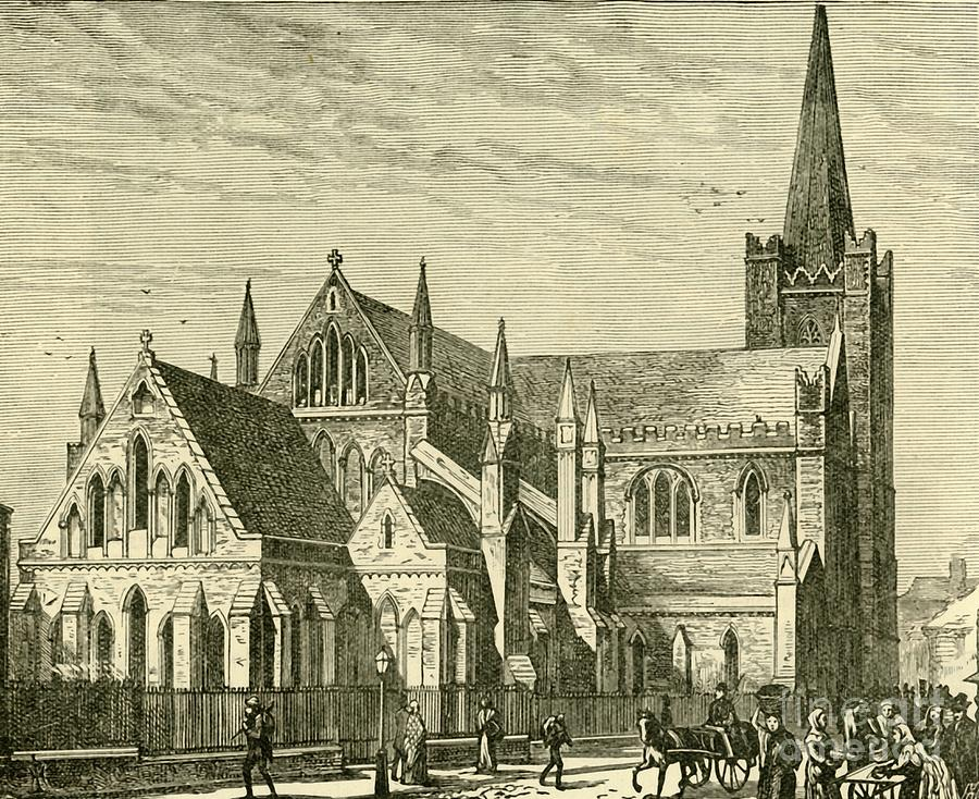 St. Patricks Cathedral 1 Drawing by Print Collector