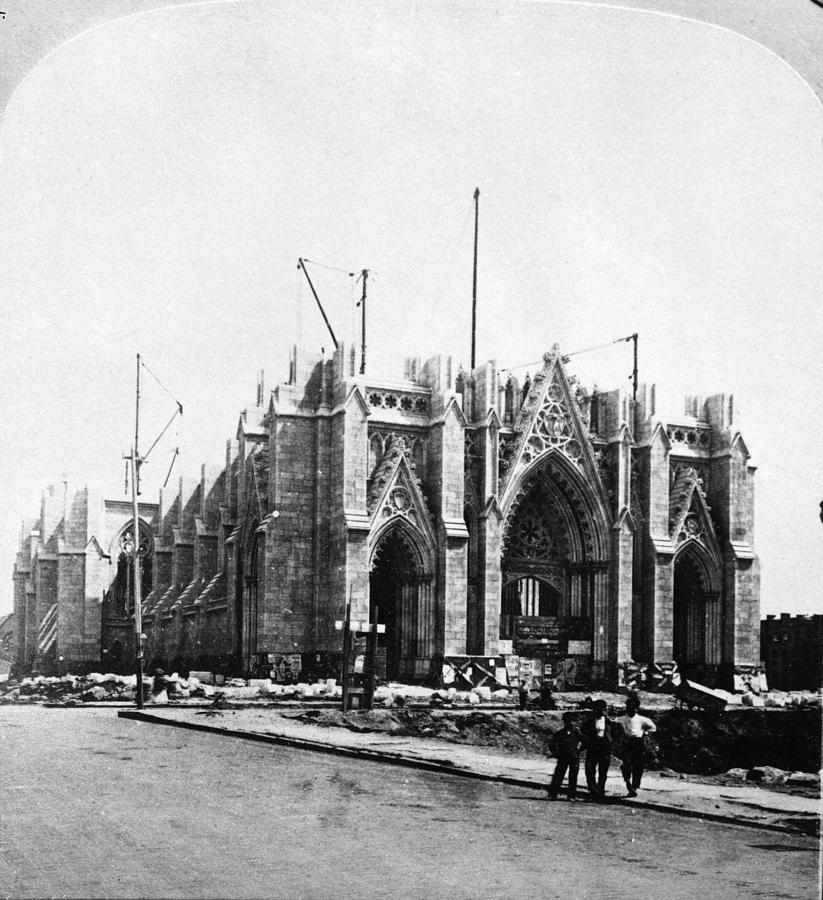 St. Patricks Cathedral Under Photograph by Graphic House