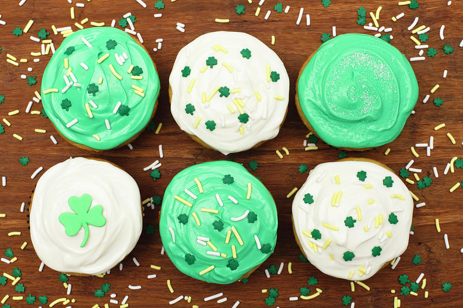 St. Patricks Cupcakes Photograph by Dustypixel