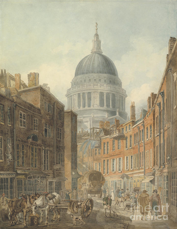 St Pauls Cathedral From St Drawing by Heritage Images