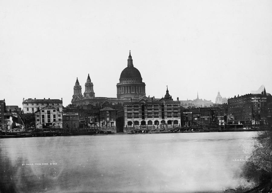 St Pauls From River Photograph by London Stereoscopic Company