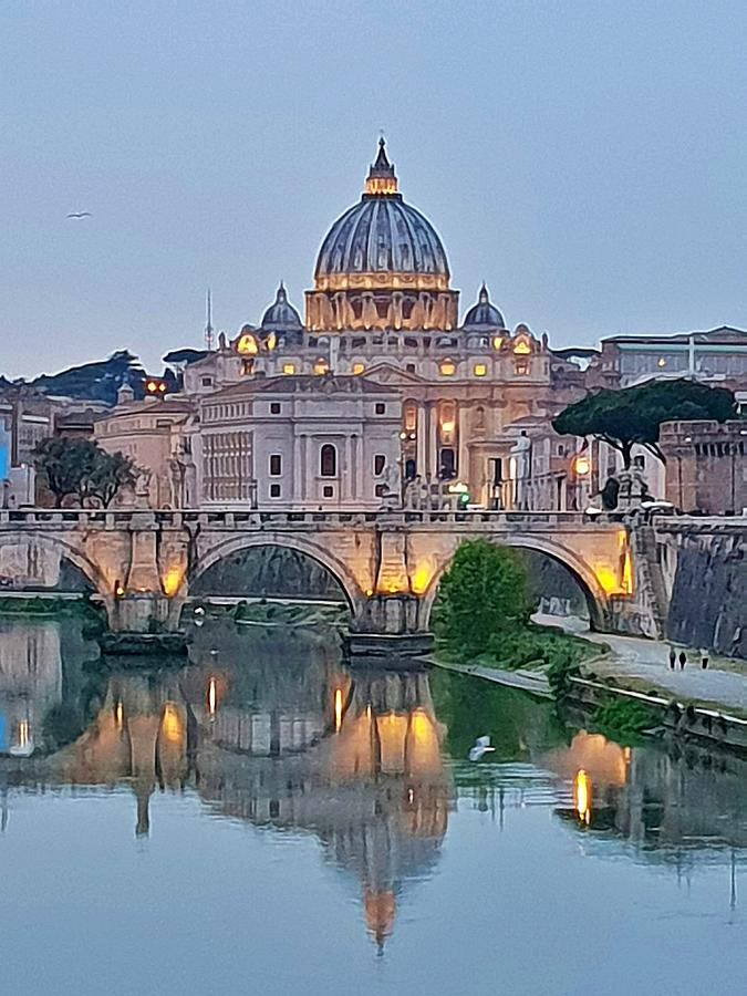 St. Peter's Basilica at Dusk by Andrea Whitaker