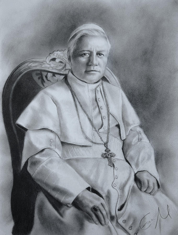 Pope Pius X Drawing - St. Piux X by Eric  Armusik