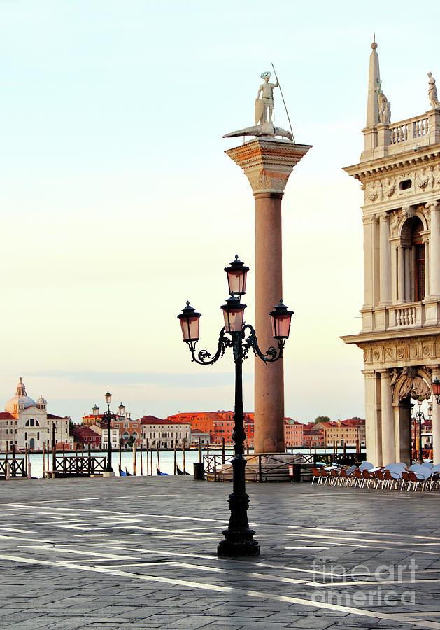 St Theodore Statue Venice  9126 Photograph