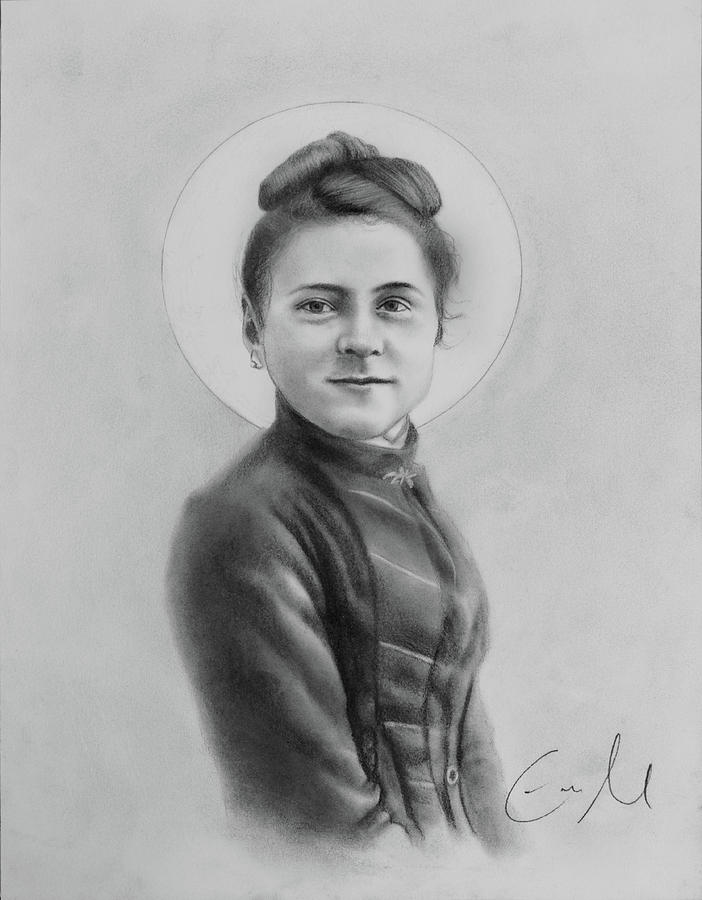 St Therese Drawing - St. Therese, The Little Flower by Eric  Armusik