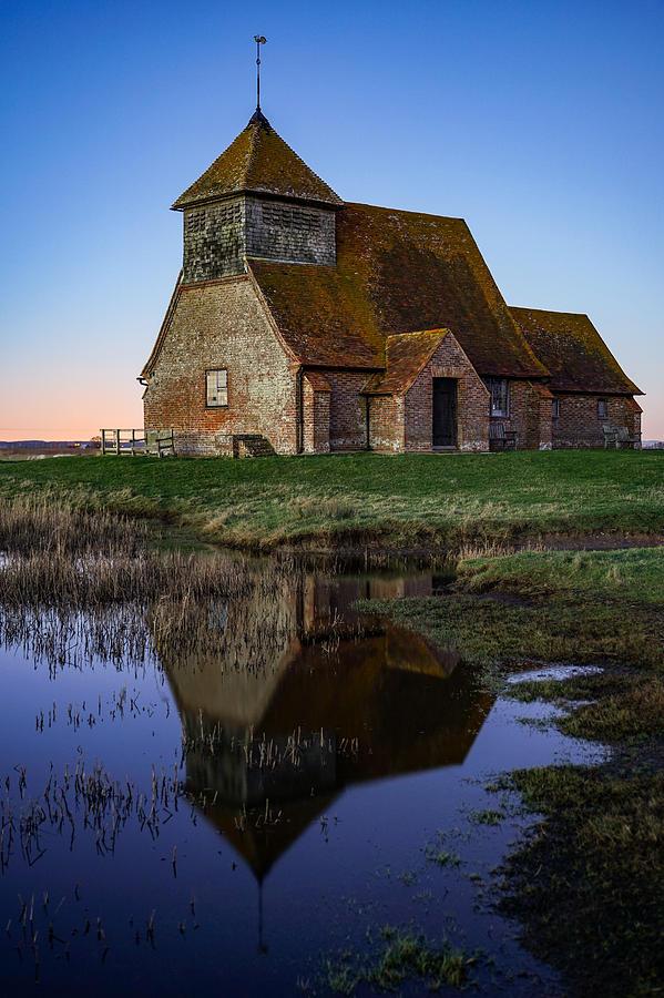 St Thomas A Becket Church In Fairfield, England. Photograph