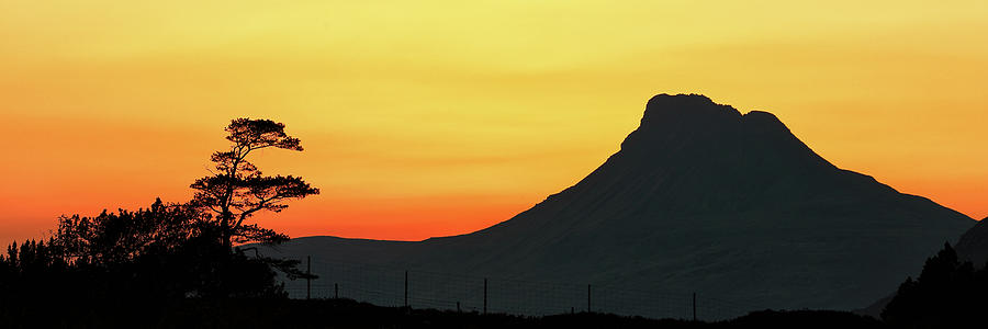 Stac Polly Mountain Sunset by Grant Glendinning