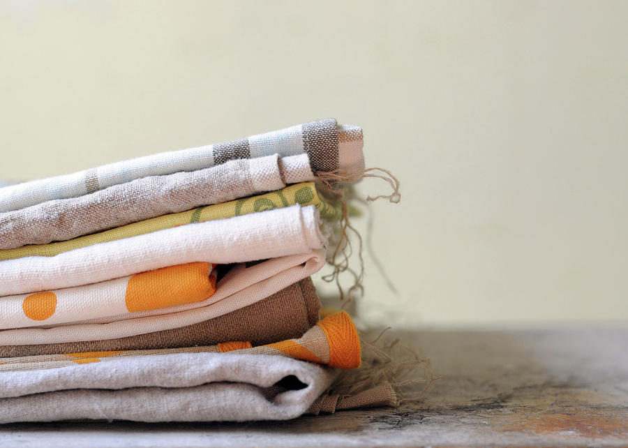 Stack Of Linens Photograph by Jennifer Causey