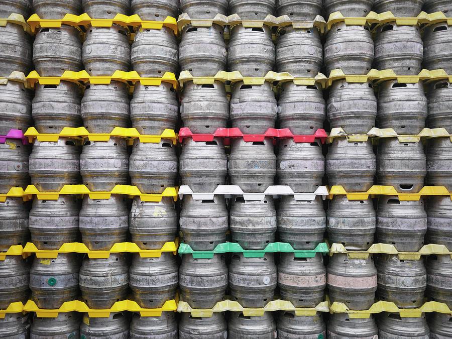 Stacked Beer Barrels Photograph by Monty Rakusen