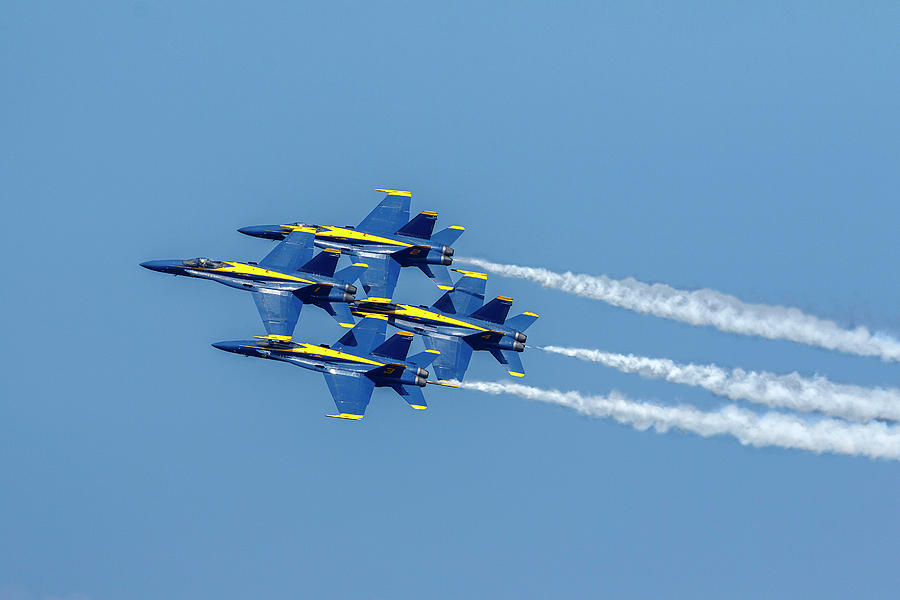 Stacked Blue Angels by Wes and Dotty Weber