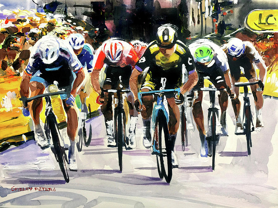 Tour De France Painting - Stage 3 2019 We Did Good by Shirley Peters