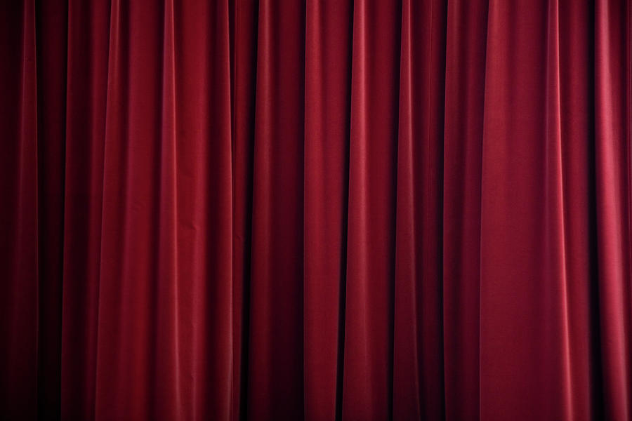 Stage Curtain Red Velvet Photograph by Mlenny