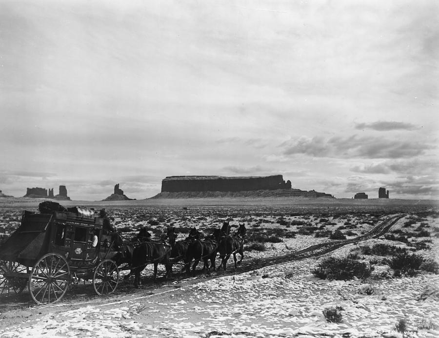 Stagecoach Photograph by Hulton Archive