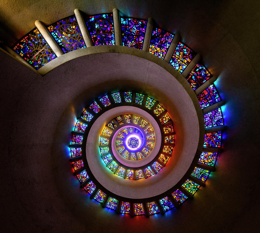Stained Glass Spiral by Michael Ash