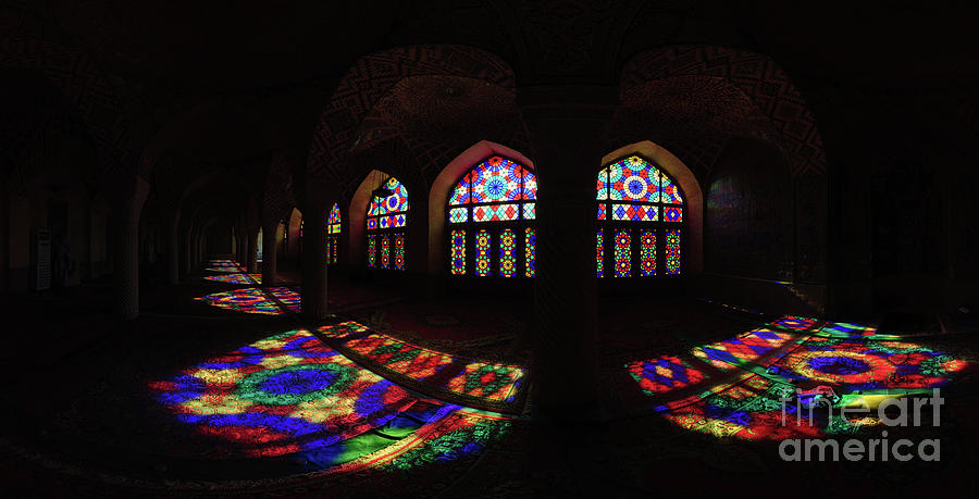 Stained Glass Windows In A Monastery Photograph by Omid Jafarnezhad