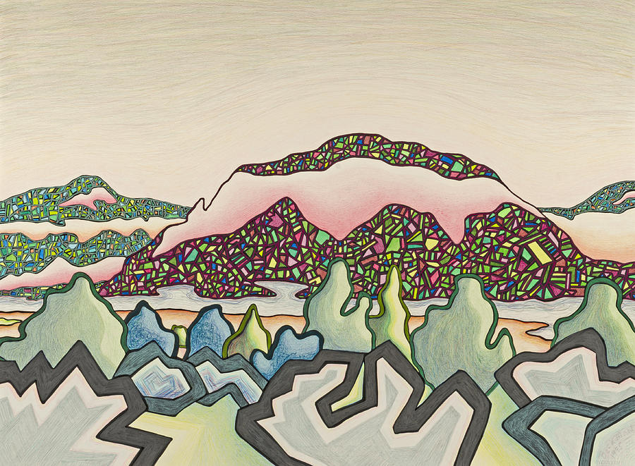Dale Beckman Mixed Media - Stainglass desert #2 by Dale Beckman