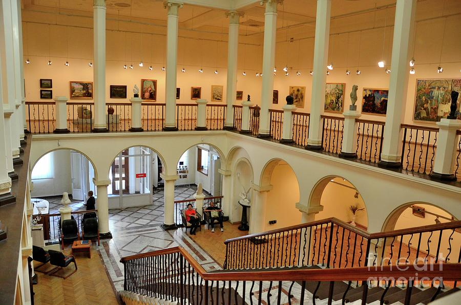 Staircase entrance area of old Museum of Art building Batumi Georgia by Imran Ahmed