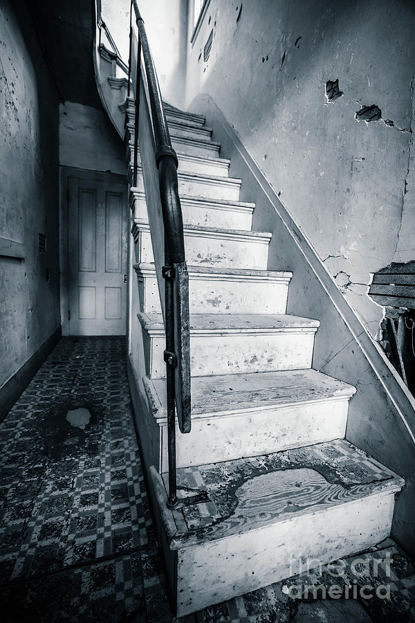 Bannack Photograph - Staircase In An Abandoned Home by Edward Fielding