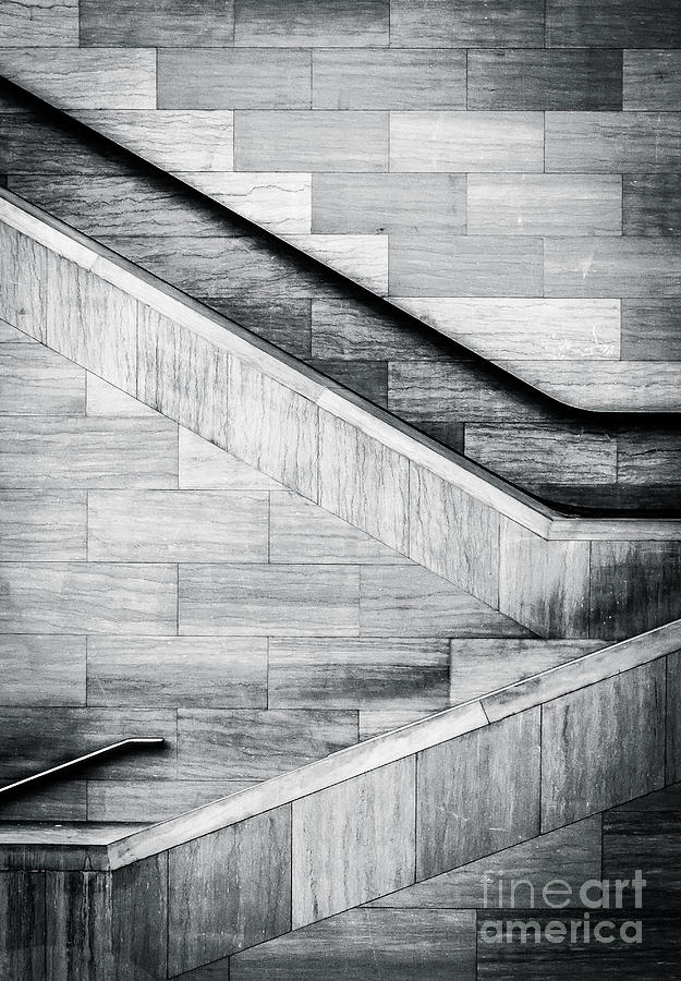 City Photograph - Staircases In The National Museum Of by Jon Bilous