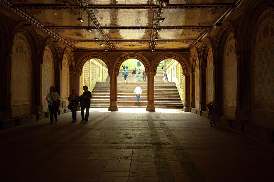 Stairs Bethesda Terrace in Central Park by Ron Brown Photography