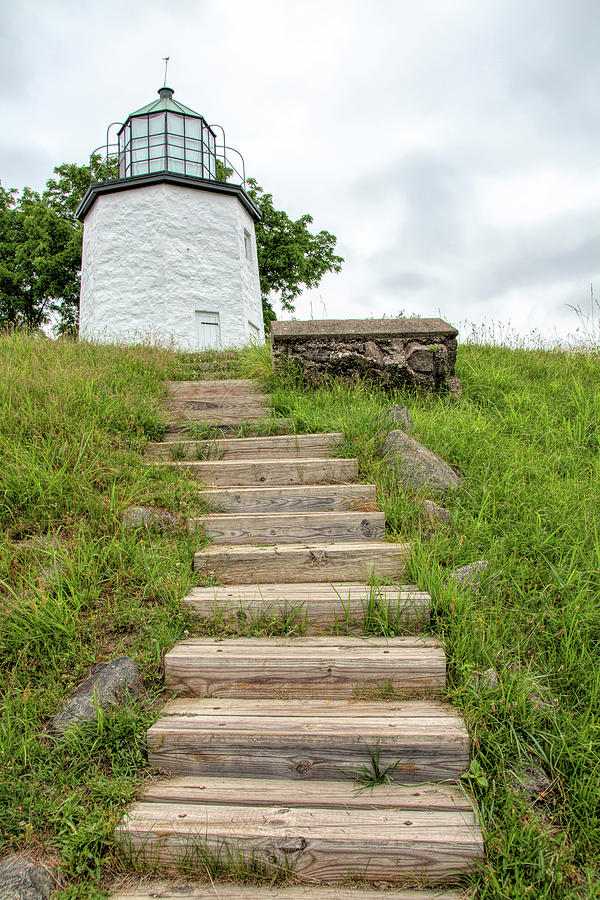 Stairs To Stony Point Lighthouse by Kristia Adams