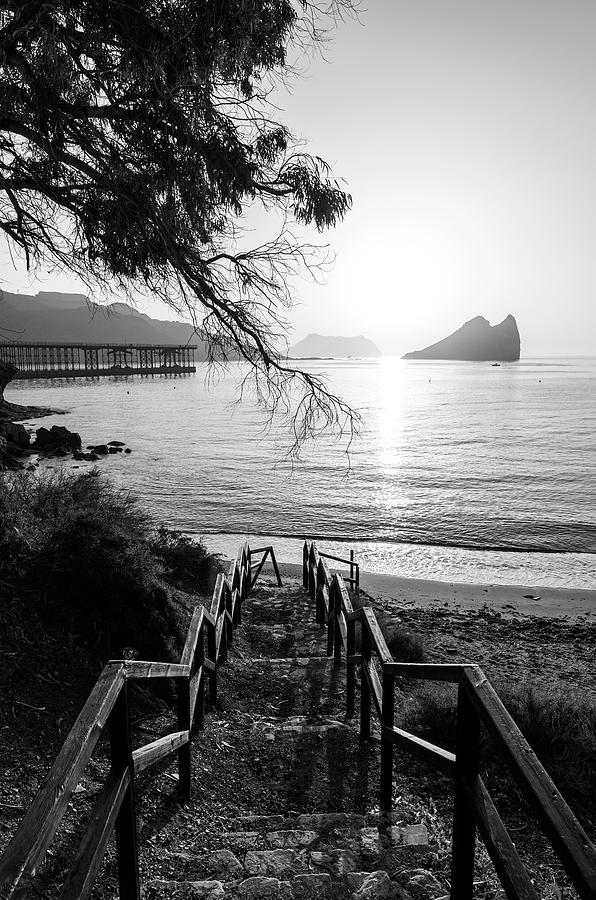 Stairs to the beach of los cocedores del hornillo, Aguilas by Vicen Photography