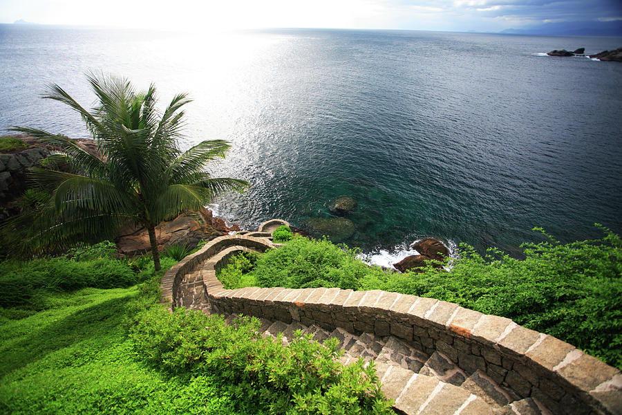 Stairs To The Sea - Brazil Photograph by Luso