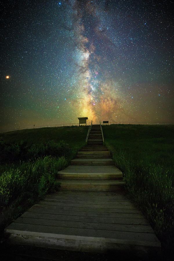 Badlands National Park Photograph - Stairway To Heaven  by Aaron J Groen