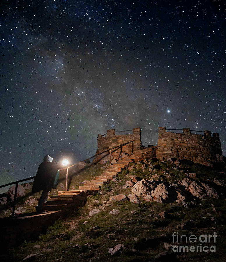 Night Photograph - Stairway To The Stars by Steven Reed