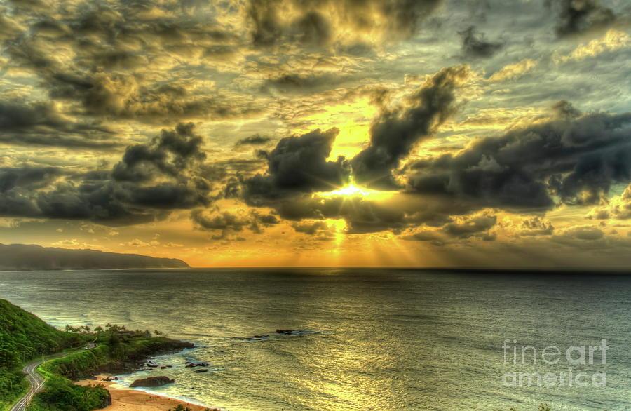 Waimea Bay Hawaii Beach Sunset Surfer Toddler//Kids Sweatshirt