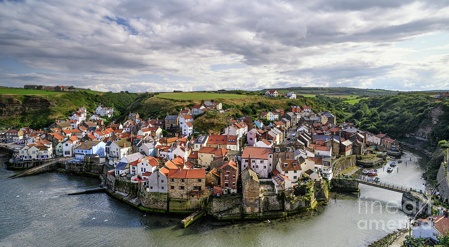 Staithes From Cow Bar Nab by Richard Burdon