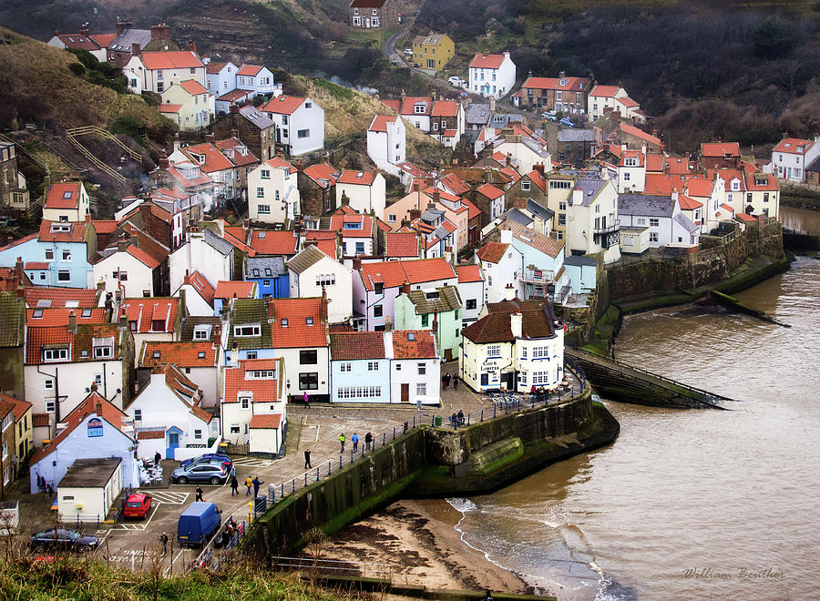 Staithes Harbour by William Beuther