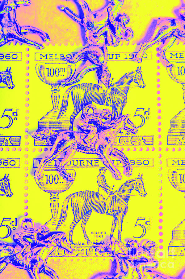 Retro Photograph - Stamps And Stallions by Jorgo Photography - Wall Art Gallery