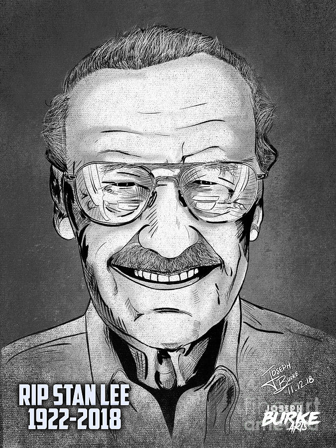 Stan Lee Digital Art - Stan Lee by Joseph Burke