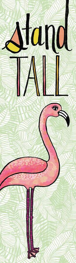 Stand Tall Flamingo Art by Jen Montgomery