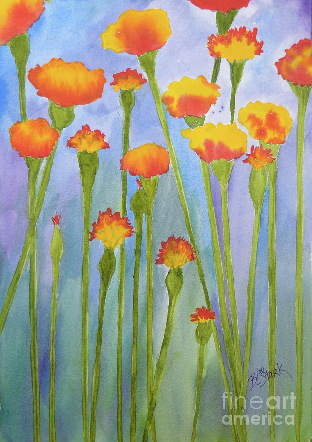 Stand Up Marigolds by Barrie Stark