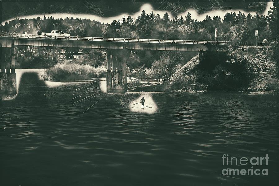 Stand Up Paddleboard Spokane River by Matthew Nelson