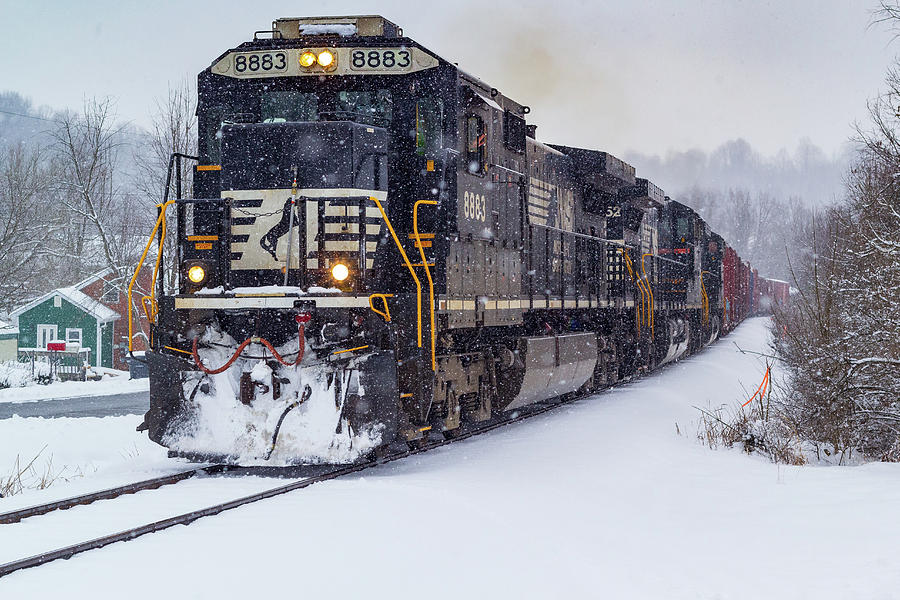 Standard Cab Dash 9 In The Snow Photograph