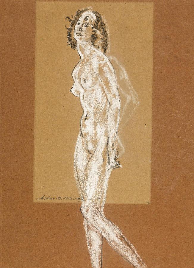 Standing Female Nude by Arthur Bowen Davies